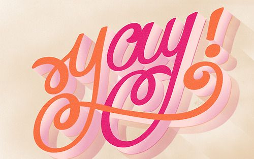 Yay - Hay-Day Project by Maia. #lettering #typography #script