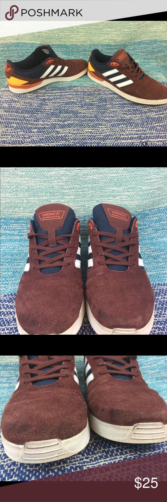 Adidas skateboarding ZX VLC shoes red orange suede Men's size 11 Suede Adidas skateboarding ZX VLC shoes. Used condition,Tread and insoles in awesome shape. Everything about the shoes are in good shape but the Suede needs cleaned up with some Suede cleaner. adidas Shoes Sneakers