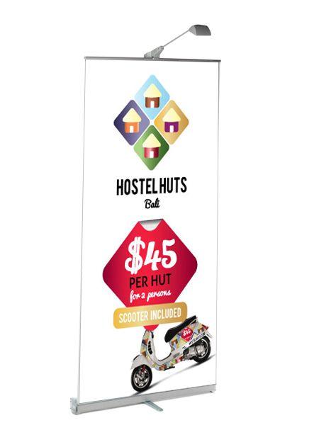 HostelHuts Concept Banner