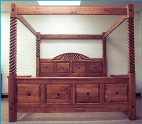 Southwestern Furniture, Southwest Style Canopy Beds