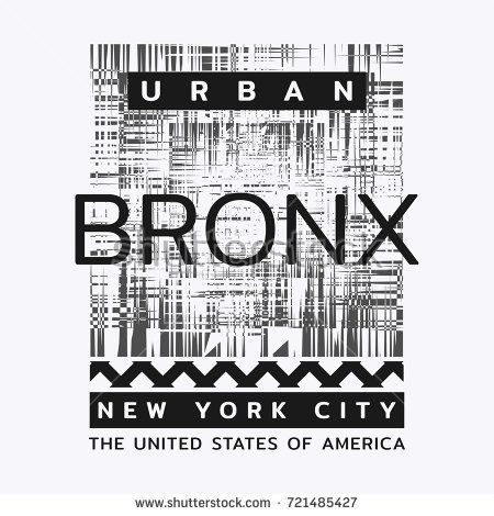 Vector illustration on the theme of New York City, Bronx. Typography, t-shirt graphics, poster, print, banner, flyer, postcard