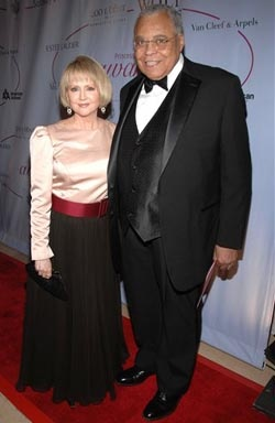 Actor James Earl Jones and his wife, Cecilia Hart, arrive at the 25th Anniversary Princess Grace Awards Gala at Sothebys, Thursday, Oct. 25, 2007, in New York.