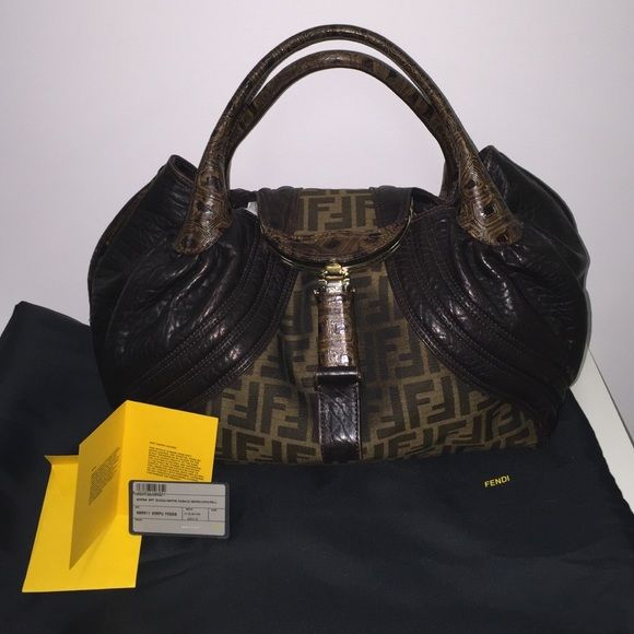 Fendi Spy Bag PRISTINE CONDITION Fendi Spy bag used maybe 3 times. Comes with dust bag and authentication card. Received as a gift and I'm too scared to use it haha See other post for additional pictures. Feel free to ask any questions. FENDI Bags