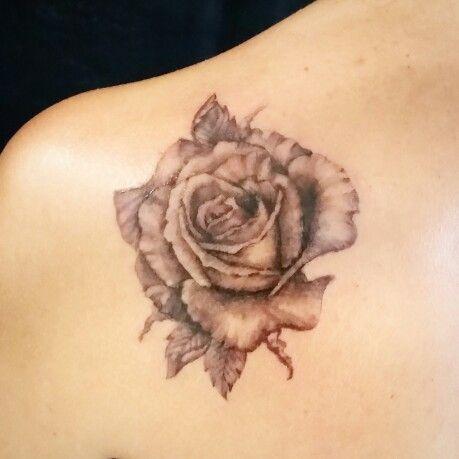 #rose #blackandgrey #loveit #feminine #delicate #femaletattoo #rosetattoo #tattoo #flowers