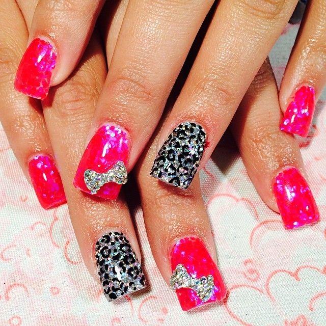 cheetah nail hotpink �� ��nα237ls�� pinterest cheetah