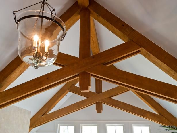 1000 images about exposed roof trusses on pinterest for Vaulted ceiling trusses