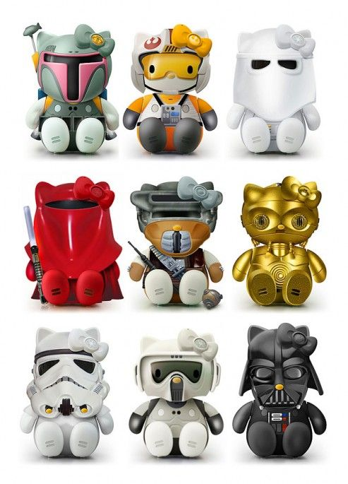 hello kitty + star wars= Me 10x more excited! XD