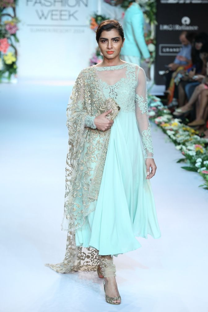 THIS IS WHAT I WAS LOOKING FOR! // Blue and gold! // Shyamal & Bhumika - India Lakme Fashion Week SR14