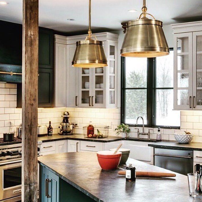 Beautiful Brass Lamps! @kitchenspiration