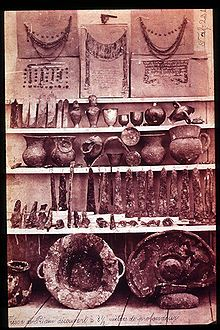 Priam's Treasure discovered by archaeologist Heinrich Schliemann. He claimed the site to be that of ancient Troy, and assigned the artifacts to the Homeric king Priam. It is now thought to be a result of Schliemann's zeal to find sites and objects mentioned in the Homeric epics. Archaeologist Carl Blegen claimed the layer in which Priam's Treasure was found was assigned to Troy II, whereas Priam would have been king of Troy VI or VII, occupied hundreds of years later. @Wikipedia