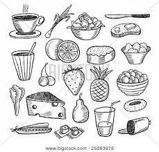 Картинки по запросу графические рисунки еды