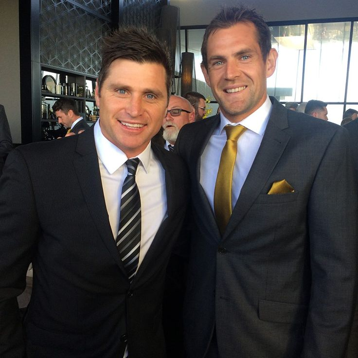 Hawks..Shane Crawford being inducted into the Hawks Hall of Fame .. with now captain Luke Hodge