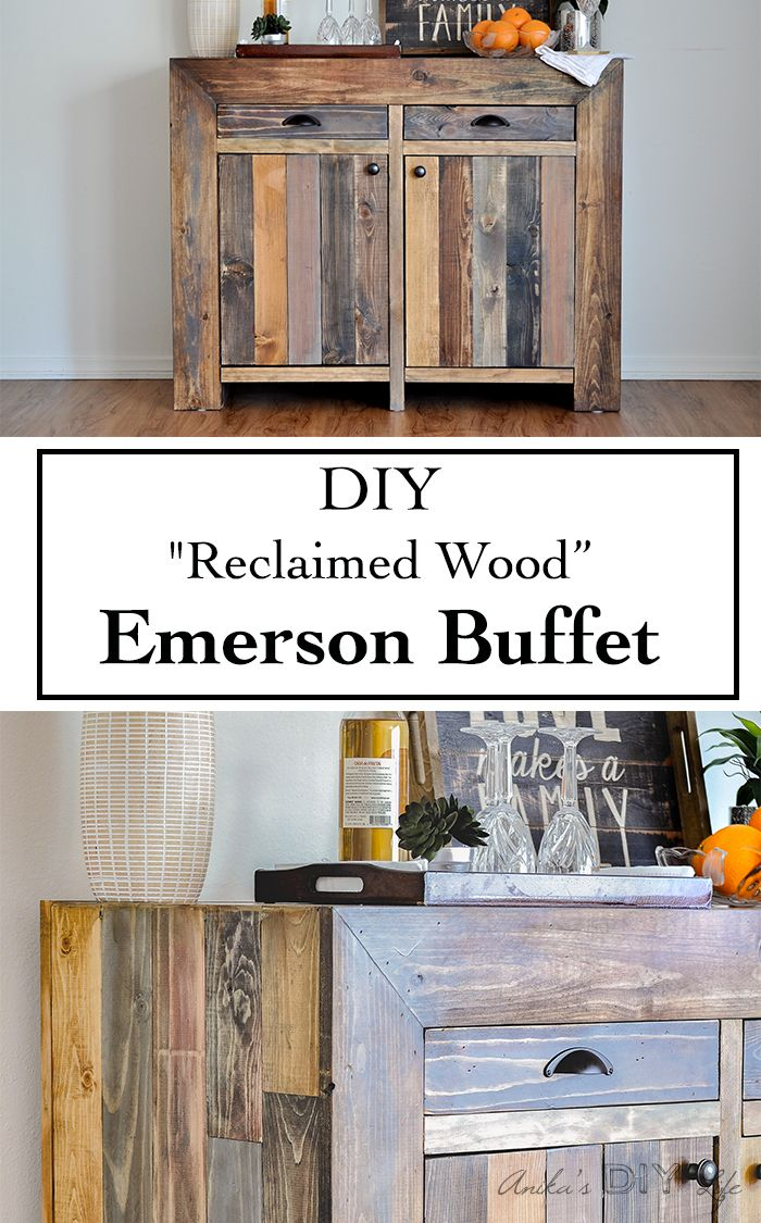 Step by step tutorial on how to build a West Elm inspired Emerson buffet/ sideboard with plans