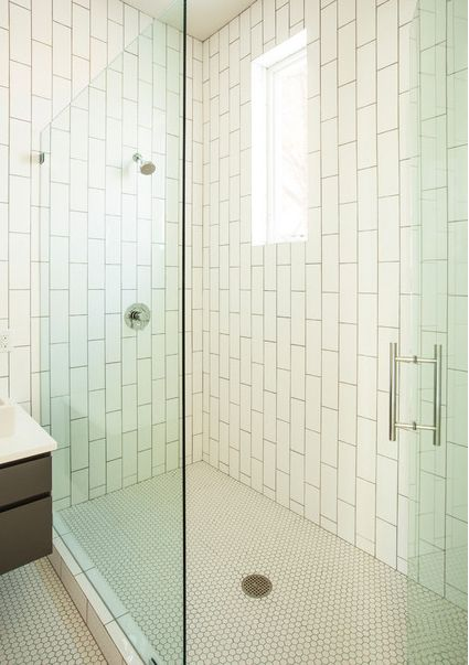 floor to ceiling vertical subway tile - Google Search