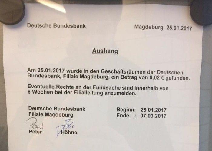 Deutsche Bundesbank Magdeburg Twitterperlen, Lustige