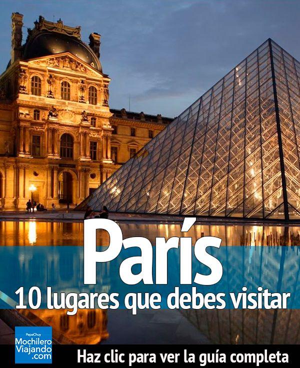 Descubre los lugares más hermosos e increíbles de la ciudad de la Luz, París, lugares que debes visitar en tu próximo viaje a este lugar. #Viaje #Mochilero #guia #guide  #europa #viajes #presupuestos #guiadeViaje #traveltips #travel #travelblog #travelblogger #europe #consejos #consejoviaje #motivación #moda #tutorial #diy #plan #planear #planviaje #viajero #Paris #francia #france #eiffel #torreeiffel #louvre #museo #palacio #Arcodeltriunfo #notredame #catedral #cathedral #orsay #museum…