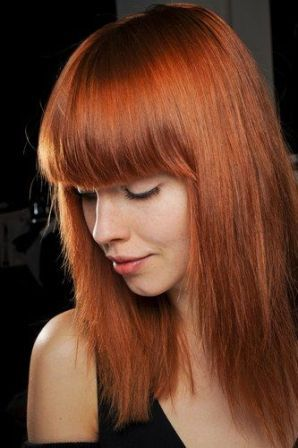 Sleek Front Bangs Hairstyle