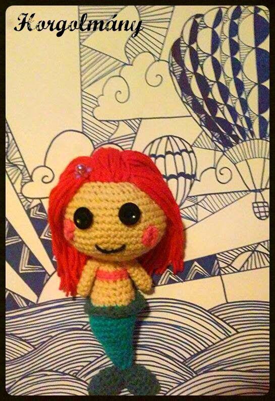 Horgolmány, crochet doll