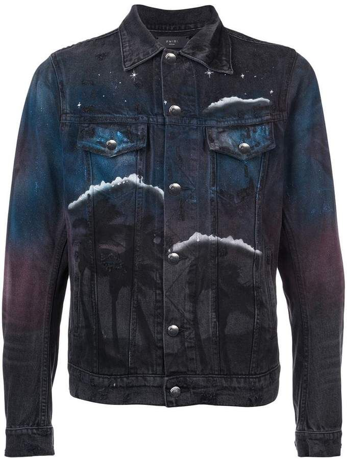 53b7655b2b0 Amiri printed denim jacket
