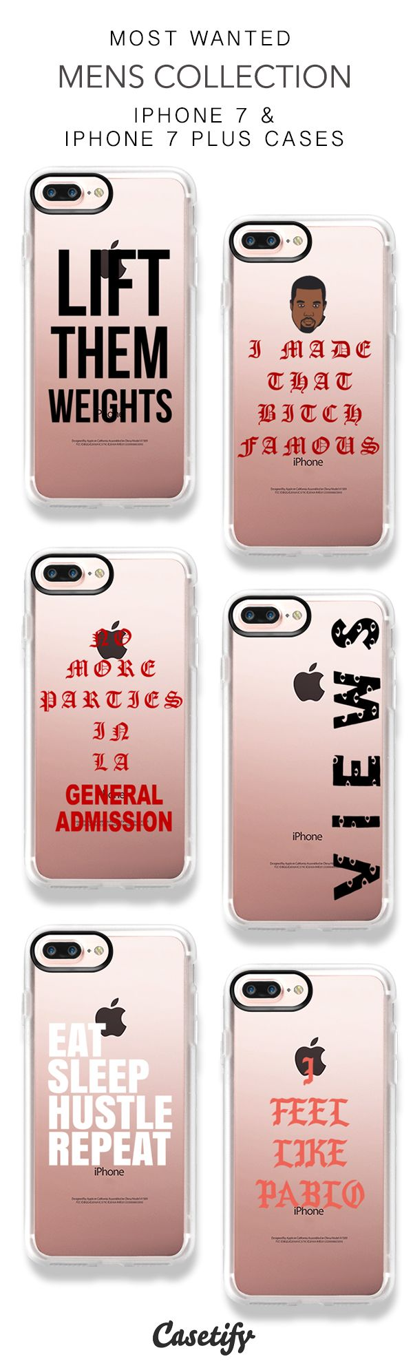 Most Wanted Mens Collection iPhone 7 Cases and iPhone 7 Plus Cases. More Guys iPhone case here > https://www.casetify.com/collections/men/iphone-7-cases#/?hideCategory=Y
