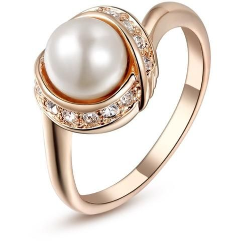 Pearl Rings for Women Vintage Ring