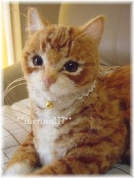 Beautiful needle felted cat by **merino117**. I CAN'T BELIEVE THIS ISN'T REAL!  Very talented!