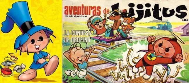 superhéroes de la historieta Argentina-Super Hijitus  Creado por García Ferré en 1967. Es uno de los personajes más reconocibles y entrañables de la animación Argentina. Siendo para niños, su trama era sencilla, plagada de chistes y personajes enternecedores. Tanto los poderes como la estética superheróica (estereotipada) de Hijitus, eran un recurso argumental con finalidad cómica, ya que no tenía una identidad secreta y todos sabían quién era.