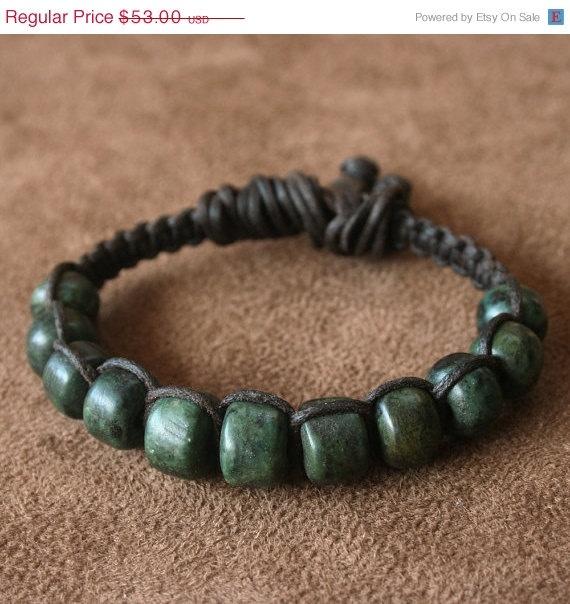 On Sale Earthy Macrame Bracelet Vintage by losttribedesigns, $47.70