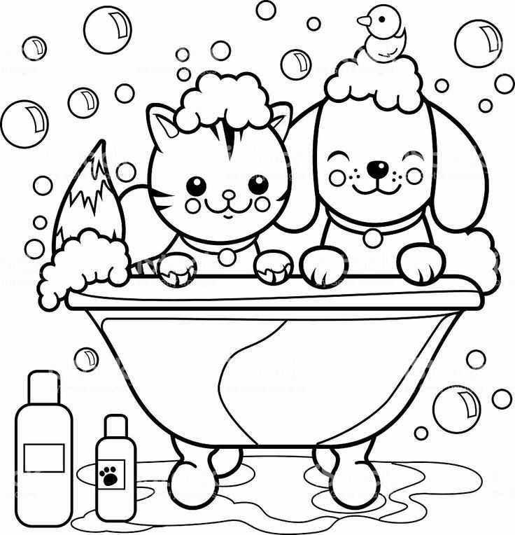Cat And Dog Free Printable Coloring Pages Dog Coloring Book Puppy Coloring Pages Coloring Books