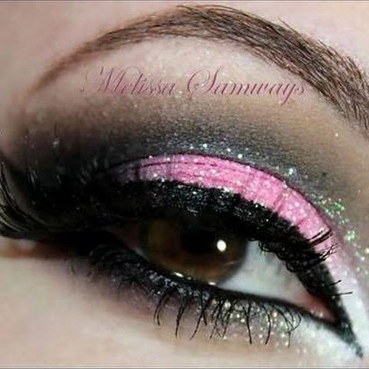Graphic Liner. A Little Bling Goes A Long Way: Glitter Eyeliner. Click the pic to see the blog!  #glittermakeup