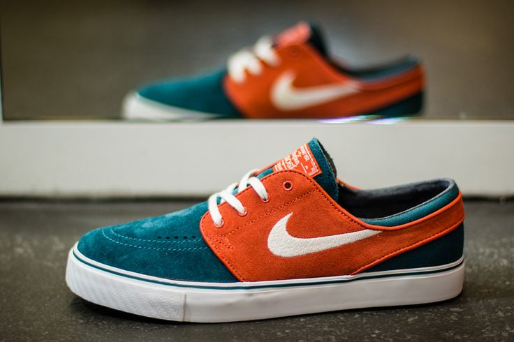 Nike SB Zoom Stefan Janoski Low - Dark Sea / White - Team Orange | KicksOnFire.com