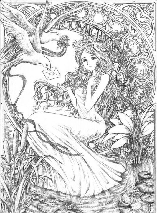 Artists Colouring Book Art Nouveau : 1501 best love to color images on pinterest