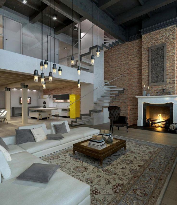 Les 25 meilleures id es de la cat gorie loft sur pinterest design de loft - Style loft industriel ...