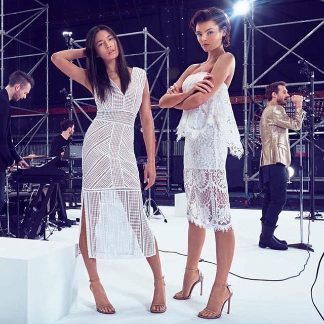 Divine @iamjessicagomes in the SS15 DAISY MAXI DRESS Shooting with #danieljohns for @davidjonesstore // In Stores & available online now