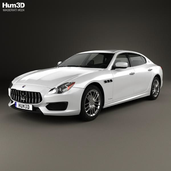 Maserati Quattroporte GTS Gran Sport 2017 3d model from Hum3d.com.