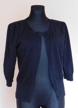 Kup mój przedmiot na #vintedpl http://www.vinted.pl/damska-odziez/kardigany/17686566-monsoon-sweterek-kardigan-czarny-44-46