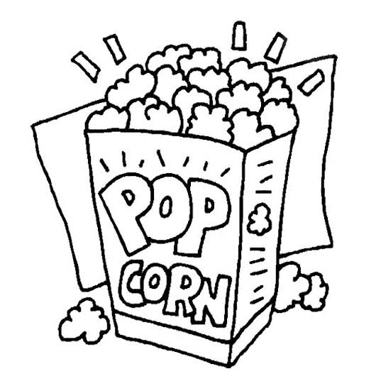 Happy Popcorn Day Coloring Page | Food coloring pages ...