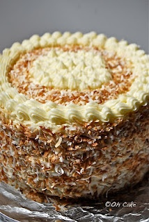 Oh Cake blog: Eight Layer Coconut Lemon Cake with Raspberries and Toasted Coconut: Lemon Cakes, Layered Coconut, Toasted Coconut, Layered Cakes Recipes, Coconut Cakes, Eating Cakes, Coconut Lemon, Toast Coconut, Cooking Recipes