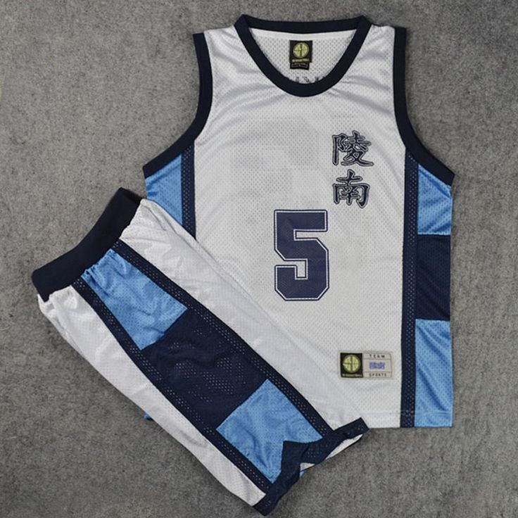 >> Click to Buy << Anime Slam Dunk Cosplay Costume Ryonan School No. 5 Ikegami Basketball Jersey Tops + Shorts Full Set Suits Team Uniform #Affiliate
