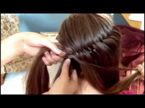 How To French Fishtail Waterfall Braid - Original Hairdo by Cassidy Espinoza