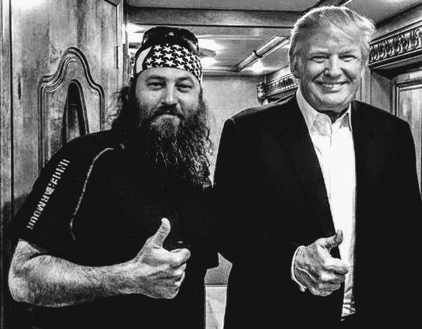 President Trump Willie Robertson Duck Commander MAGA USA