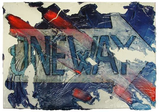 """La route en bleu"" opera esposta alla mostra ""One"" Hernandez Art Gallery, Milano"