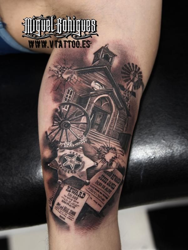Tatuaje Farwest - Miguel Bohigues - V Tattoo