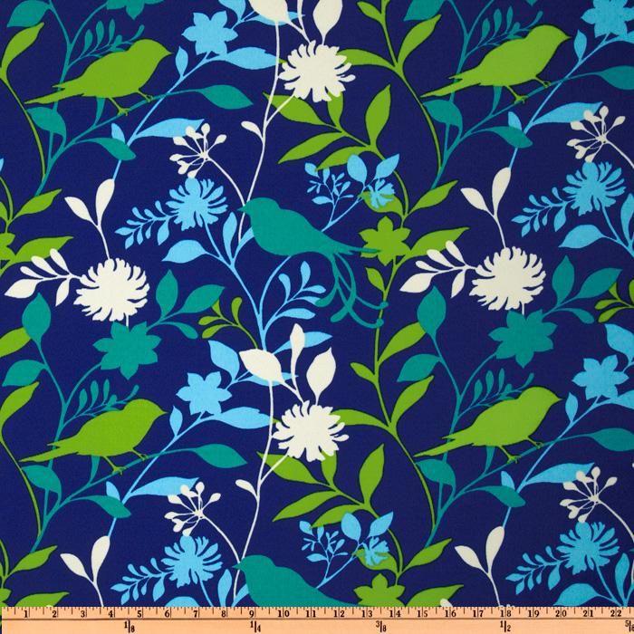 Richloom Solarium Outdoor Bir Azure Dark Blue Door Like Background Fabric Or Bright Flowers Black Shutters Green Chai