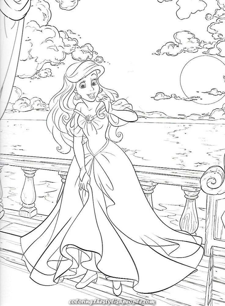 36++ Ariel coloring pages human trends