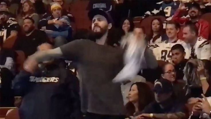 Angry Chargers Fan THROWS Shirt at Owner Dean Spanos at Team Rally, Gets Kicked Out - http://www.truesportsfan.com/angry-chargers-fan-throws-shirt-at-owner-dean-spanos-at-team-rally-gets-kicked-out/