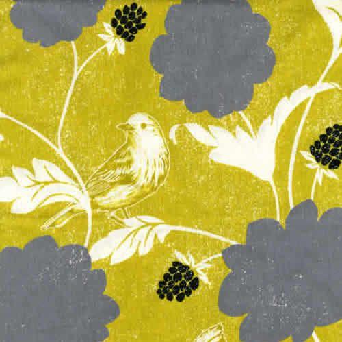 Echino Decoro Dahlia in Gold -  Linen Cotton Blend - Half Yard
