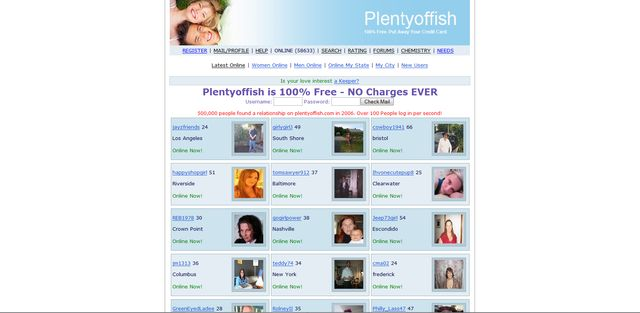 The Top 8 Free Online Dating Websites: Plentyoffish