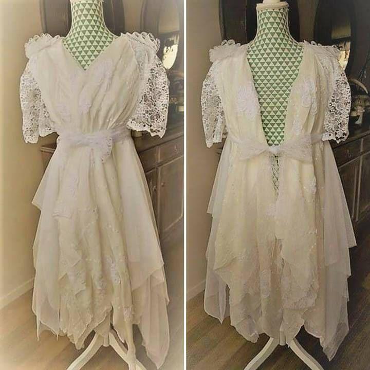 robe de mari e boh me shabby chic kimono de mariage hippie chic robe en dentelle et tulle. Black Bedroom Furniture Sets. Home Design Ideas