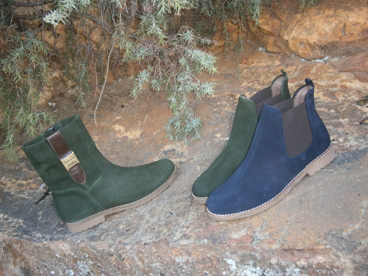 MODELO 3006 caqui y marino  botín MODELO 3004 caqui   bota corta #calzado#hechoenespaña#botines